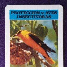 Coleccionismo Calendarios: CALENDARIO FOURNIER. PROTECCION DE AVES INSECTIVORAS, OROPENDOLA. ICONA.1974. Lote 62106368