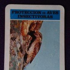 Coleccionismo Calendarios: CALENDARIO FOURNIER. PROTECCION DE AVES INSECTIVORAS, TORCECUELLO. ICONA .1974. Lote 62106644