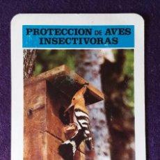Coleccionismo Calendarios: CALENDARIO FOURNIER. PROTECCION DE AVES INSECTIVORAS, ABUBILLA. ICONA .1974. Lote 116290755