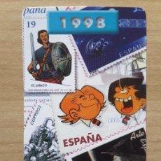 Coleccionismo Calendarios: CALENDARIO AÑO 1998 SERVICIO FILATÉLICO DE CORREOS. Lote 62210464