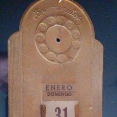 Coleccionismo Calendarios: CALENDARIO PERPETUO MODERNISTA, PARED, BURGOS, TRES MINUTOS, COLCHONERIA BURGALESA, CONCEPCION 21,. Lote 62210540