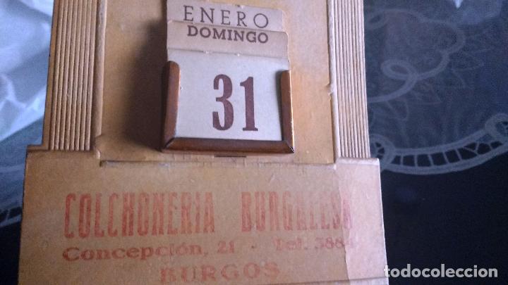 Coleccionismo Calendarios: CALENDARIO PERPETUO MODERNISTA, PARED, BURGOS, TRES MINUTOS, COLCHONERIA BURGALESA, CONCEPCION 21, - Foto 3 - 62210540