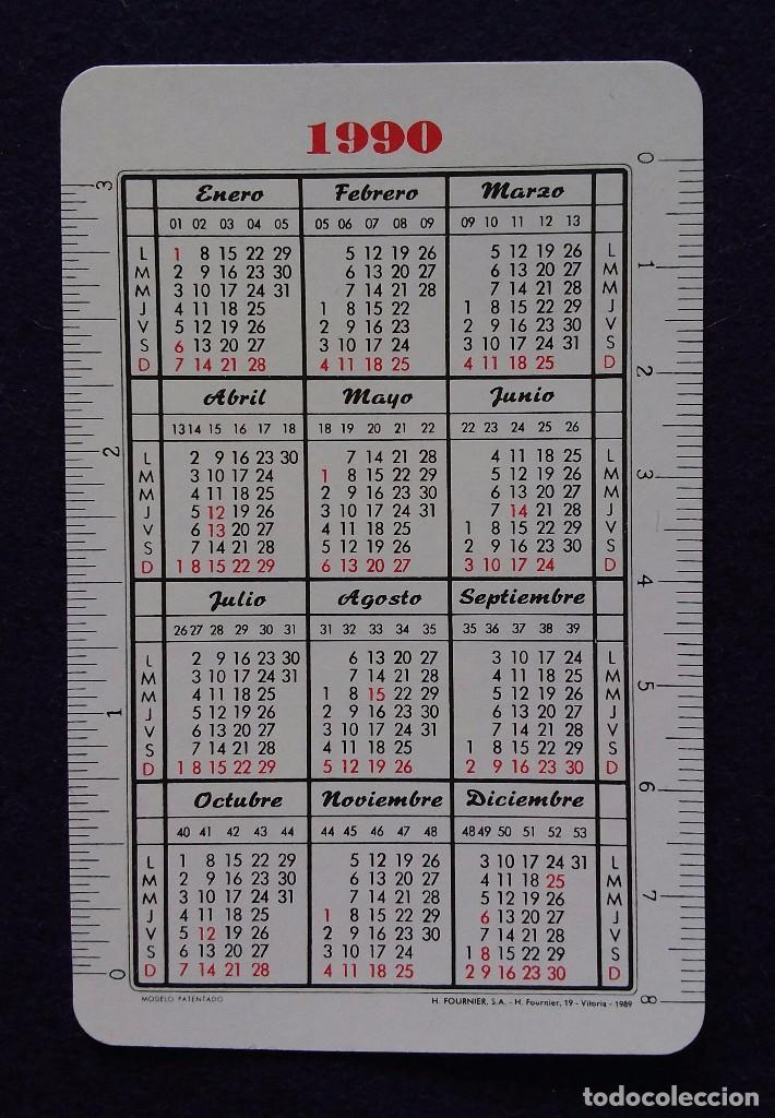 Coleccionismo Calendarios: CALENDARIO FOURNIER. CAJA DE AHORROS DE VITORIA, ROMERODE TORRES.1990 - Foto 2 - 150797790