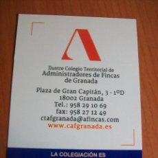 Coleccionismo Calendarios: CALENDARIO COLEGIO ADMINISTRADORES DE FINCAS. 2015. Lote 62450876