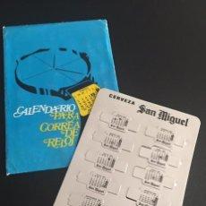 Coleccionismo Calendarios: RARISIMO CALENDARIO DE 1981 PARA CORREA DE RELOJ DE CERVEZAS CERVEZA SAN MIGUEL. Lote 62679052