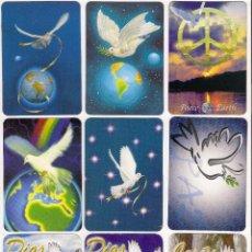 Coleccionismo Calendarios: -65682 9 CALENDARIOS DIBUJOS PALOMAS, DESDE 1995 AL 2010, CON PUBLICIDAD, ANIMALES. Lote 62692876