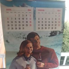 Coleccionismo Calendarios: ANTIGUO CALENDARIO DE PARED COCA COLA 1965 COMPLETO, BARATO VER DESCRIPCION. Lote 62750136