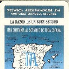 Coleccionismo Calendarios: CALENDARIO FOURNIER - 1987 - TÉCNICA ASEGURADORA. Lote 63393048