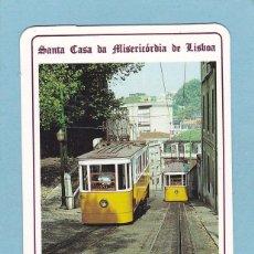 Coleccionismo Calendarios: CALENDARIO EXTRANJERO 1992 - LOTARIA NACIONAL. LOTERIA. ELEVADOR DA GLORIA. TRANVIA. TREN / TRENES. Lote 63401360