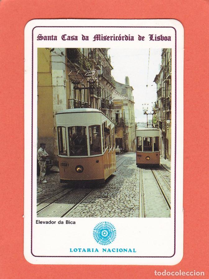 CALENDARIO EXTRANJERO 1992 - LOTARIA NACIONAL. LOTERIA. ELEVADOR DA BICA. TRANVIA. TREN / TRENES (Coleccionismo - Calendarios)