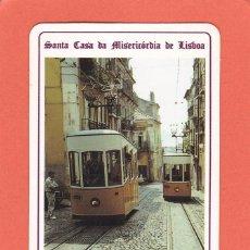 Coleccionismo Calendarios: CALENDARIO EXTRANJERO 1992 - LOTARIA NACIONAL. LOTERIA. ELEVADOR DA BICA. TRANVIA. TREN / TRENES. Lote 63401564