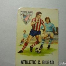 Coleccionismo Calendarios: CALENDARIO FUTBOL AT. BILBAO 1975. Lote 63685863