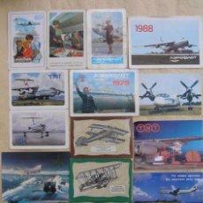 Coleccionismo Calendarios: LOTE 2 15 CALENDARIOS DE BOLSILLO .AEROFLOT.URSS. Lote 64150207