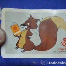 Coleccionismo Calendarios: RARO CALENDARIO DE CAJA POSTAL DE CORREOS DE 1983. CON LA ARDILLA. Lote 64182019