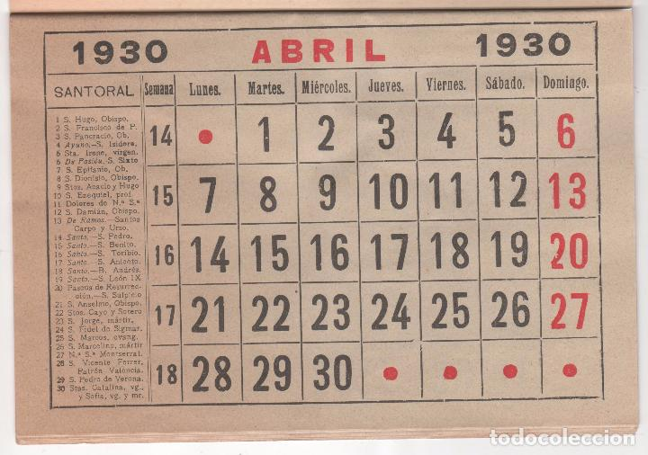 Calendario 1930.Recambio Original De Calendario Del Ano 1930 Sold Through