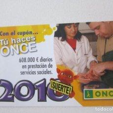 Coleccionismo Calendarios: CALENDARIO ONCE 2010. Lote 101309584