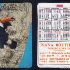 Coleccionismo Calendarios: CALENDARIO 1989 - EDITADO EN PORTUGAL - ISANA BOUTIQUE - MONTEMOR O NOVO. Lote 64901699