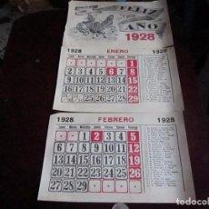 Coleccionismo Calendarios: CALENDARIO 1928, 3 HOJAS. Lote 66790474