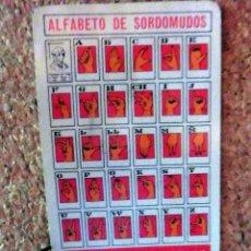 Coleccionismo Calendarios: CALENDARIO DE BOLSILLO - FOURNIER - AÑO 1983 - ALFABETO DE SORDOMUDOS. Lote 68073301