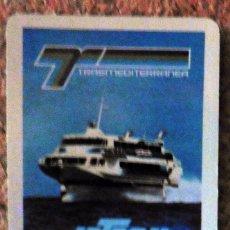 Coleccionismo Calendarios: CALENDARIO DE BOLSILLO - FOURNIER - AÑO 1985 - TRASMEDITERRANEA. Lote 68073657