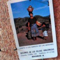 Coleccionismo Calendarios: CALENDARIO DE BOLSILLO - FOURNIER - AÑO 1984 -MISIONES DE LAS SELVAS AMAZONICAS. Lote 68075581