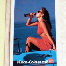 Coleccionismo Calendarios: CALENDARIO DE BOLSILLO - FOURNIER - 1989 - COCA COLA. Lote 68174269
