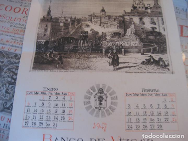 CALENDARIO BANCO DE VIZCAYA 1947. GRABADOS DE MADRID -2-, SEVILLA, VITORIA, SAN SEBASTIÁN Y BILBAO (Coleccionismo - Calendarios)