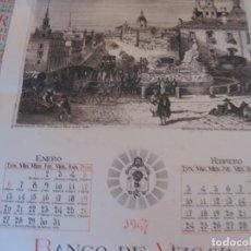 Coleccionismo Calendarios: CALENDARIO BANCO DE VIZCAYA 1947. GRABADOS DE MADRID -2-, SEVILLA, VITORIA, SAN SEBASTIÁN Y BILBAO. Lote 68831893