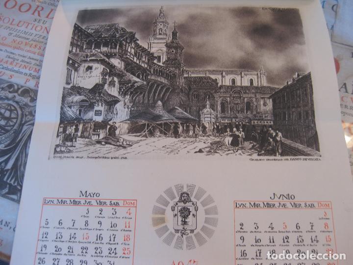 Coleccionismo Calendarios: Calendario Banco de Vizcaya 1947. Grabados de Madrid -2-, Sevilla, Vitoria, San Sebastián y Bilbao - Foto 3 - 68831893