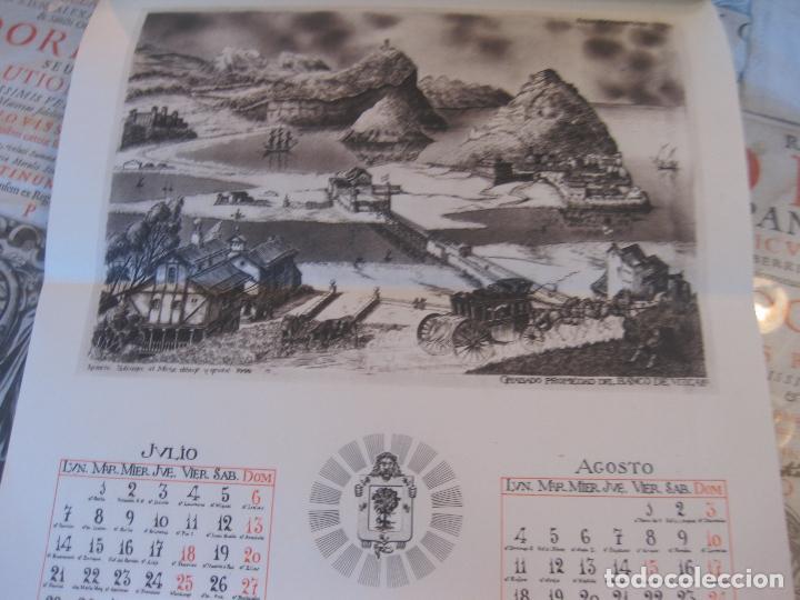 Coleccionismo Calendarios: Calendario Banco de Vizcaya 1947. Grabados de Madrid -2-, Sevilla, Vitoria, San Sebastián y Bilbao - Foto 4 - 68831893