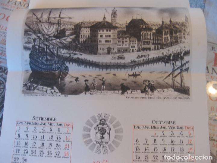 Coleccionismo Calendarios: Calendario Banco de Vizcaya 1947. Grabados de Madrid -2-, Sevilla, Vitoria, San Sebastián y Bilbao - Foto 5 - 68831893