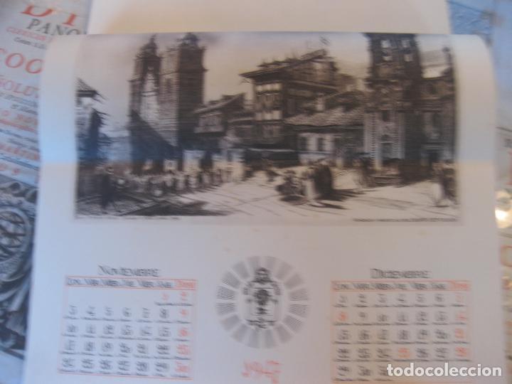 Coleccionismo Calendarios: Calendario Banco de Vizcaya 1947. Grabados de Madrid -2-, Sevilla, Vitoria, San Sebastián y Bilbao - Foto 6 - 68831893