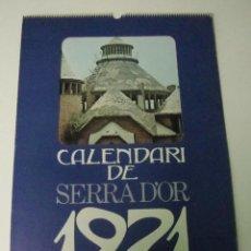 Coleccionismo Calendarios: CALENDARIO DE PARED SERRA D'OR 1971. Lote 69270265