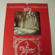 Coleccionismo Calendarios: CALENDARIO DE PARED SERRA D'OR 1973. Lote 69270589
