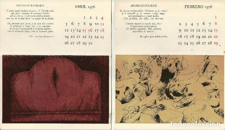 Calendarios De Febrero Y Abril De 1976 Con Poe Buy Old Calendars