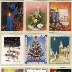 Coleccionismo Calendarios: -63636 9 CALENDARIOS NAVIDAD, AÑO 2006, PRECIOSOS DIBUJOS TIPO POSTAL, CON PUBLICIDAD. Lote 70057773