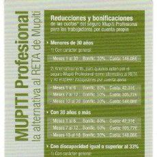 Coleccionismo Calendarios: CALENDARIO BOLSILLO - SEGUROS - MUPITI - AÑO 2014. Lote 195198850