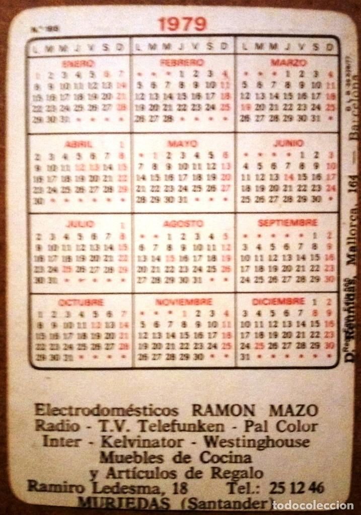 Interit Calendario.Calendario Equipo Real Madrid 1979