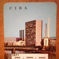 Coleccionismo Calendarios: CALENDARIO CIBALGINA 1970. Lote 71071653