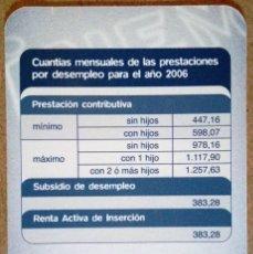 Coleccionismo Calendarios: CALENDARIO INSTITUTO NACIONAL EMPLEO 2006 INEM. Lote 71077441