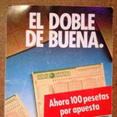 Coleccionismo Calendarios: CALENDARIO LOTERÍA PRIMITIVA 1988. Lote 71082705