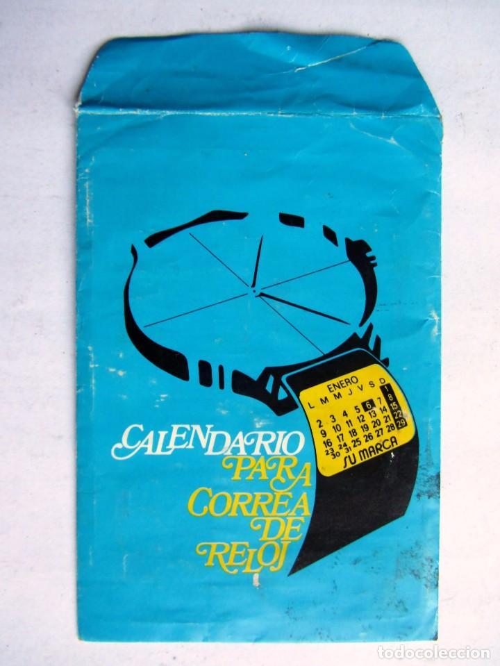 ANTIGUO CALENDARIO PARA CORREA DE RELOJ 1984 (Coleccionismo - Calendarios)