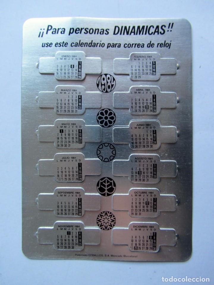 Coleccionismo Calendarios: ANTIGUO CALENDARIO PARA CORREA DE RELOJ 1984 - Foto 2 - 71173121