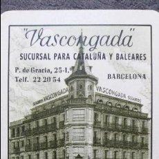 Coleccionismo Calendarios: CALENDARIO FOURNIER VASCONGADA SEGUROS 1960. Lote 71544723