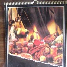 Coleccionismo Calendarios: CALENDARIO GASTRONOMICO DE LA RIOJA - IBERDROLA 1993 - 24 RECETAS - CALENDARIO DE PARED. Lote 71756511