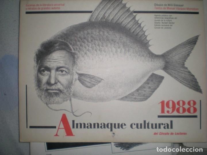 CALENDARIO O ALMANAQUE CULTURAL 1988 ILUSTRADO POR WILLI GLASAUER Y CARLOS GARCIA GUAL FOTOS ABAJO (Coleccionismo - Calendarios)