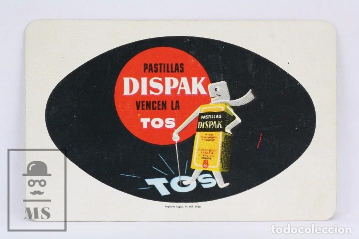 CALENDARIO PUBLICITARIO FOURNIER DE BOLSILLO - PASTILLAS DISPAK VENCEN LA TOS - AÑO 1959 (Coleccionismo - Calendarios)