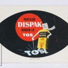 Coleccionismo Calendarios: CALENDARIO PUBLICITARIO FOURNIER DE BOLSILLO - PASTILLAS DISPAK VENCEN LA TOS - AÑO 1959. Lote 72015259