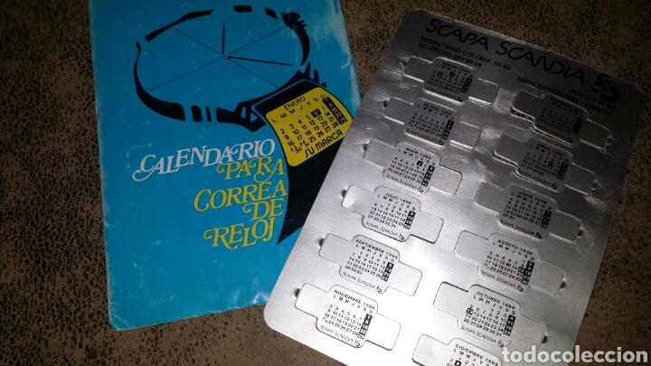 CALENDARIO METÀLICO PARA CORREA DE RELOJ. AÑO.1998- SCAPA SCANDIA, BARCELONA (Coleccionismo - Calendarios)