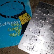 Coleccionismo Calendarios: CALENDARIO METÀLICO PARA CORREA DE RELOJ. AÑO.1998- SCAPA SCANDIA, BARCELONA. Lote 72337063